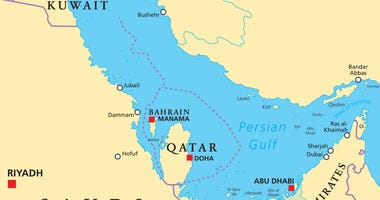 Persian Gulf region political map