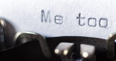 """The words """"Me too"""" typed on a typewriter"""