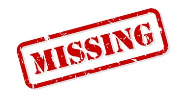 Missing red rubber stamp vector