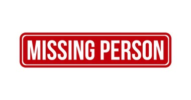 Missing person rubber stamp