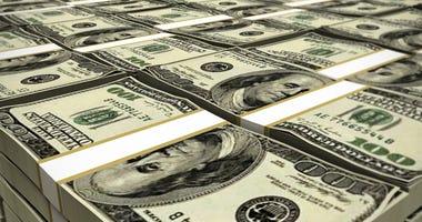 huge deposit of one hundred dollar bills