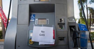 Gas pump empty in Florida