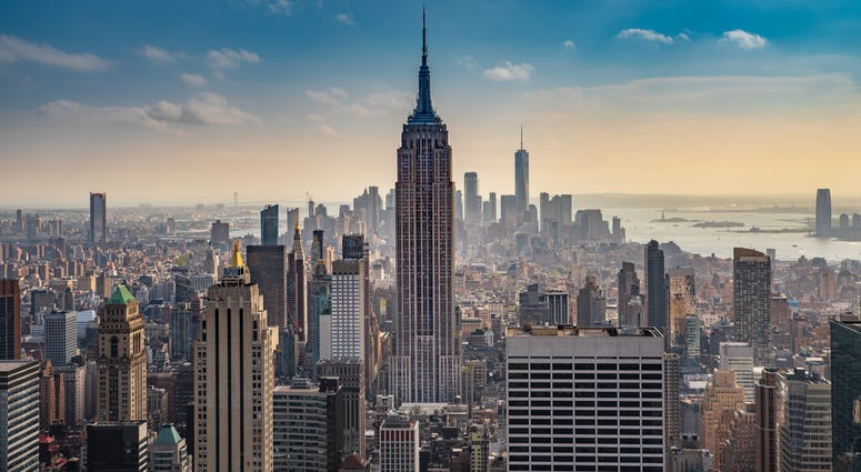 The Empire State Building as seen from Rooftop of Rockefeller Building