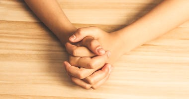 Close up prayer's hands