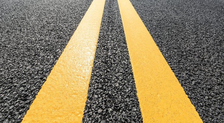 asphalt road texture background closeup