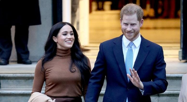 Harry and Meghan stepping back from the royal family