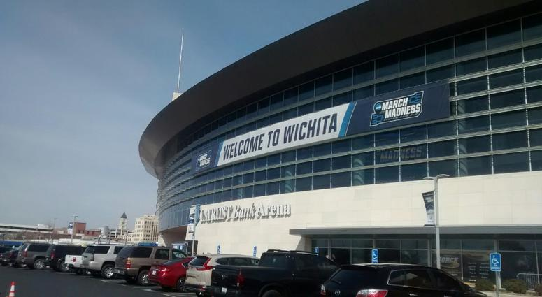 Intrust Bank Arena in downtown Wichita