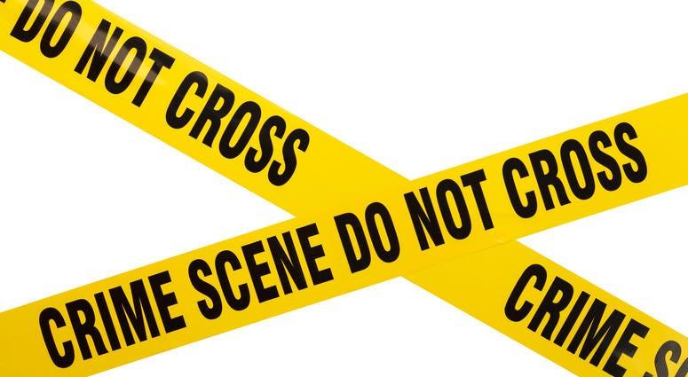 Yellow Plastic Crime Scene Do Not Cross Tape Isolated On White Background