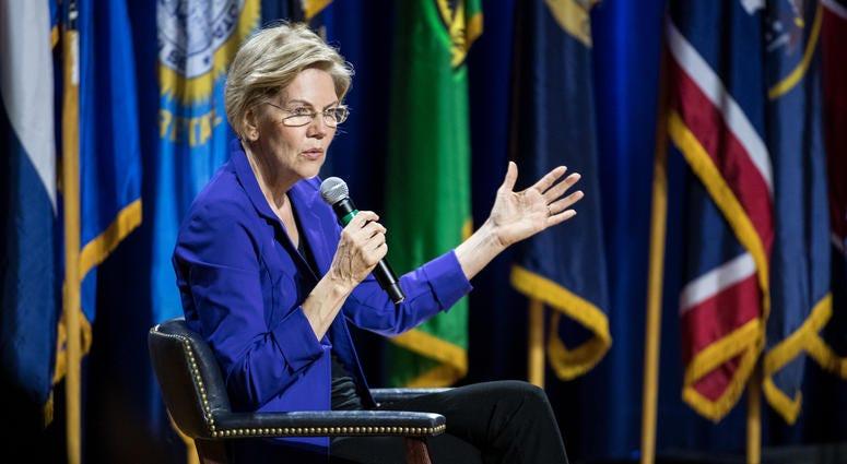 Democratic presidential candidate, Sen. Elizabeth Warren (D-MA)