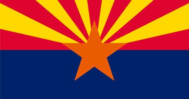 The state flag of Arizona