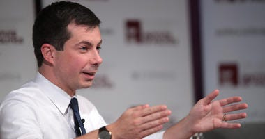 Democratic presidential candidate Pete Buttigieg