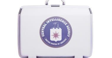 suitcase with CIA seal
