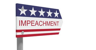 Impeachment Direction Sign With US Flag