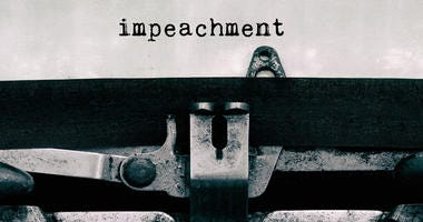 Impeachment typed on vintage typewriter