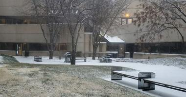 Snow at the KNSS studios: Saturday, January 11th