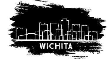 Wichita Kansas city skyline silhouette
