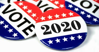 2020 Voter badge buttons