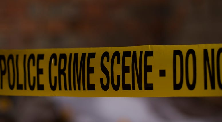 Police line tape and crime scene investigation