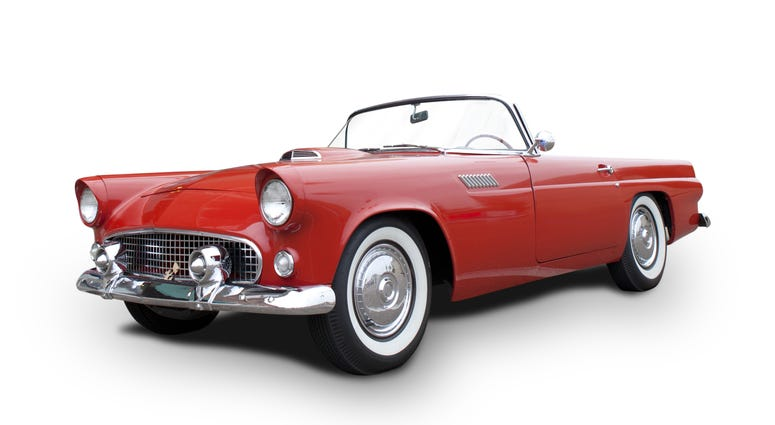 Ford Thunderbird 1955-1957, isolated on white