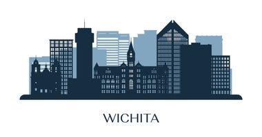 Wichita skyline illustration