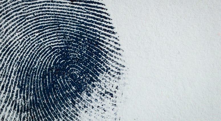 Thumbprint on paper