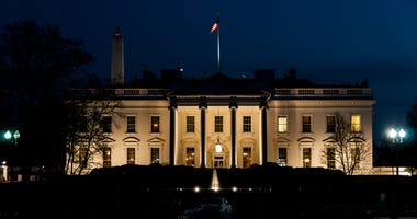 The Whitehouse in Washington DC illuminated after dark