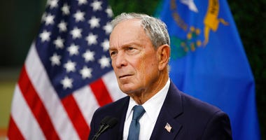 file photo, former New York City Mayor Michael Bloomberg speaks at a news conference at a gun control advocacy event in Las Vegas.