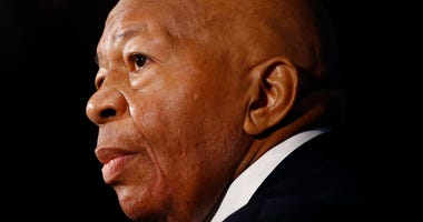 Rep. Elijah Cummings, D-Md., speaks during a luncheon at the National Press Club in Washington. Cummings died from complications of longtime health challenges, his office said in a statement on Oct. 17, 201