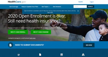 """This screen grab from the website HealthCare.gov shows the extended deadline for signing up for health care coverage for 2020. The Trump administration says people will get more time to sign up for """"Obamacare"""" health insurance following a spate of compute"""