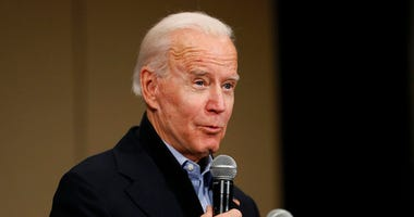 Democratic presidential candidate former Vice President Joe Biden speaks during a community event at the National Motorcycle Museum, Thursday, Jan. 2, 2020, in Anamosa, Iowa.