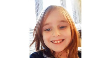 This undated photo provided by the Cayce Department of Public Safety shows Faye Marie Swetlik, who has been missing since shortly after getting off her school bus near her South Carolina home Monday, Feb. 10, 2020.