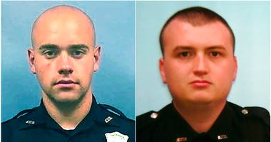 Officer Garrett Rolfe, left and Officer Devin Brosnan (AP)