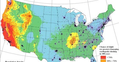 USGS geological map
