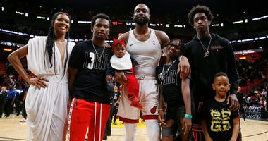 Dwayne Wade and family