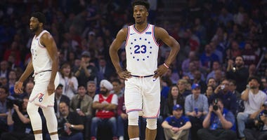 Jimmy Butler with the Sixers.