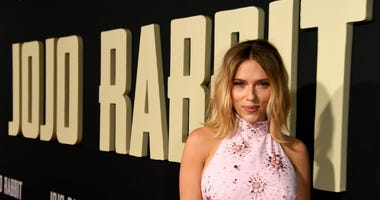 "Scarlett Johansson arrives at the premiere of Fox Searchlights' ""Jojo Rabbit"" at the American Legion Hall Post 43 on October 15, 2019 in Los Angeles, California."