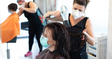 Salons with masks