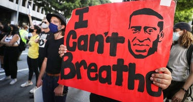 George Floyd Protests Los Angeles (GETTY)