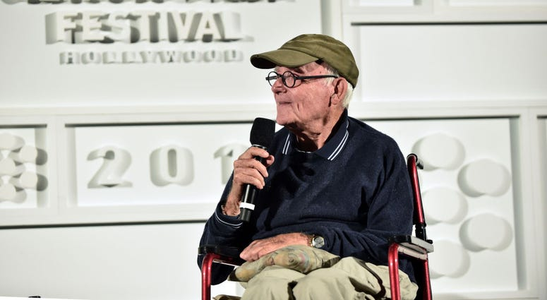 Actor Buck Henry speaks onstage at the screening of 'The Graduate' during the 2017 TCM Classic Film Festival on April 8, 2017 in Los Angeles, California.