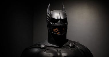 Batman costume from the 1995 Batman Forever film (GETTY)