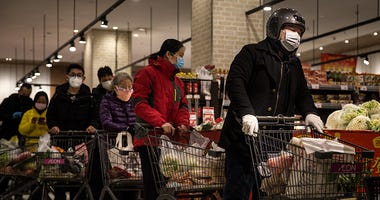 Grocery store during coronavirus