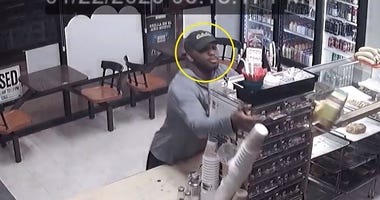 Lottery machine thief