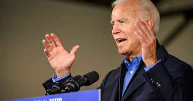 Democratic presidential candidate former Vice President Joe Biden speaks to local residents, Saturday, Nov. 23, 2019, in Des Moines, Iowa.