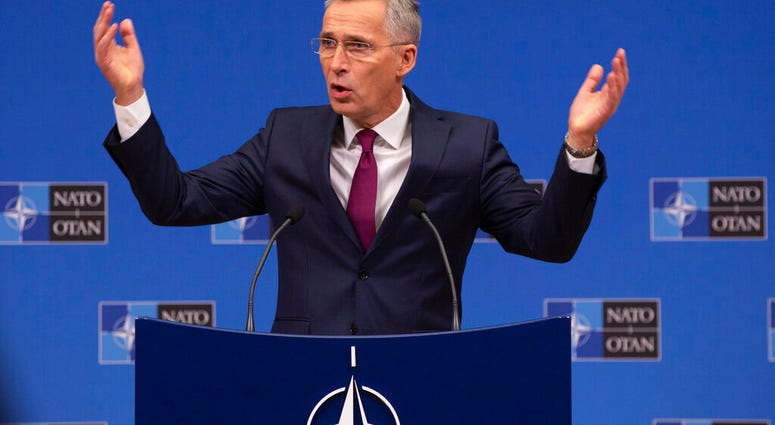 NATO Secretary General, Jens Stoltenberg speaks during a media conference at NATO headquarters in Brussels, Friday, Nov. 29, 2019.