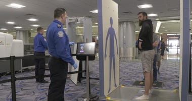 Advanced Imaging Technology, being tested with passengers at the TSA's Innovation Checkpoint at McCarran International Airport in Las Vegas.