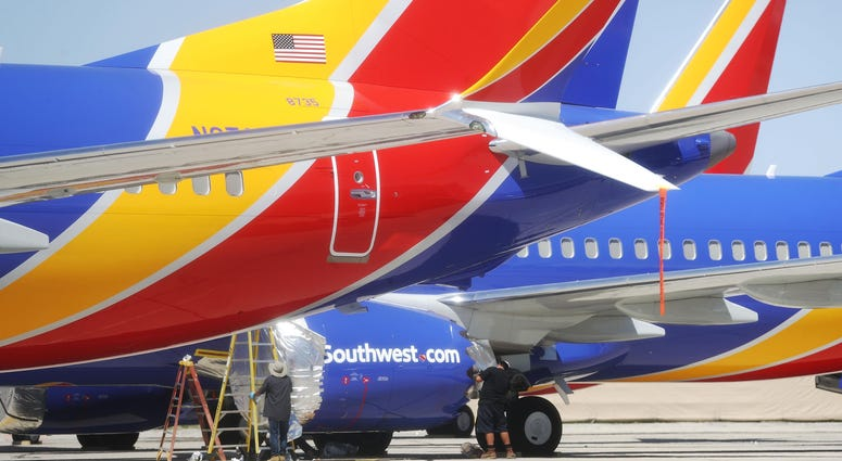 A Southwest airplane