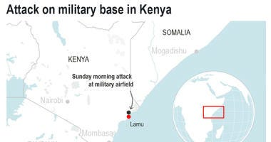 The U.S. military says the situation at a Kenyan airfield used by U.S.