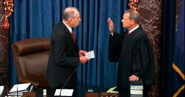 Chief Justice John Roberts was sworn