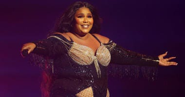 Lizzo performs at Sydney Opera House on January 06, 2020 in Sydney, Australia.