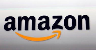 This Sept. 6, 2012 file photo shows the Amazon logo in Santa Monica, Calif.